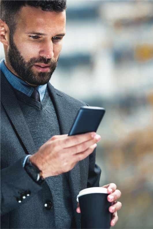 business man checking smart phone